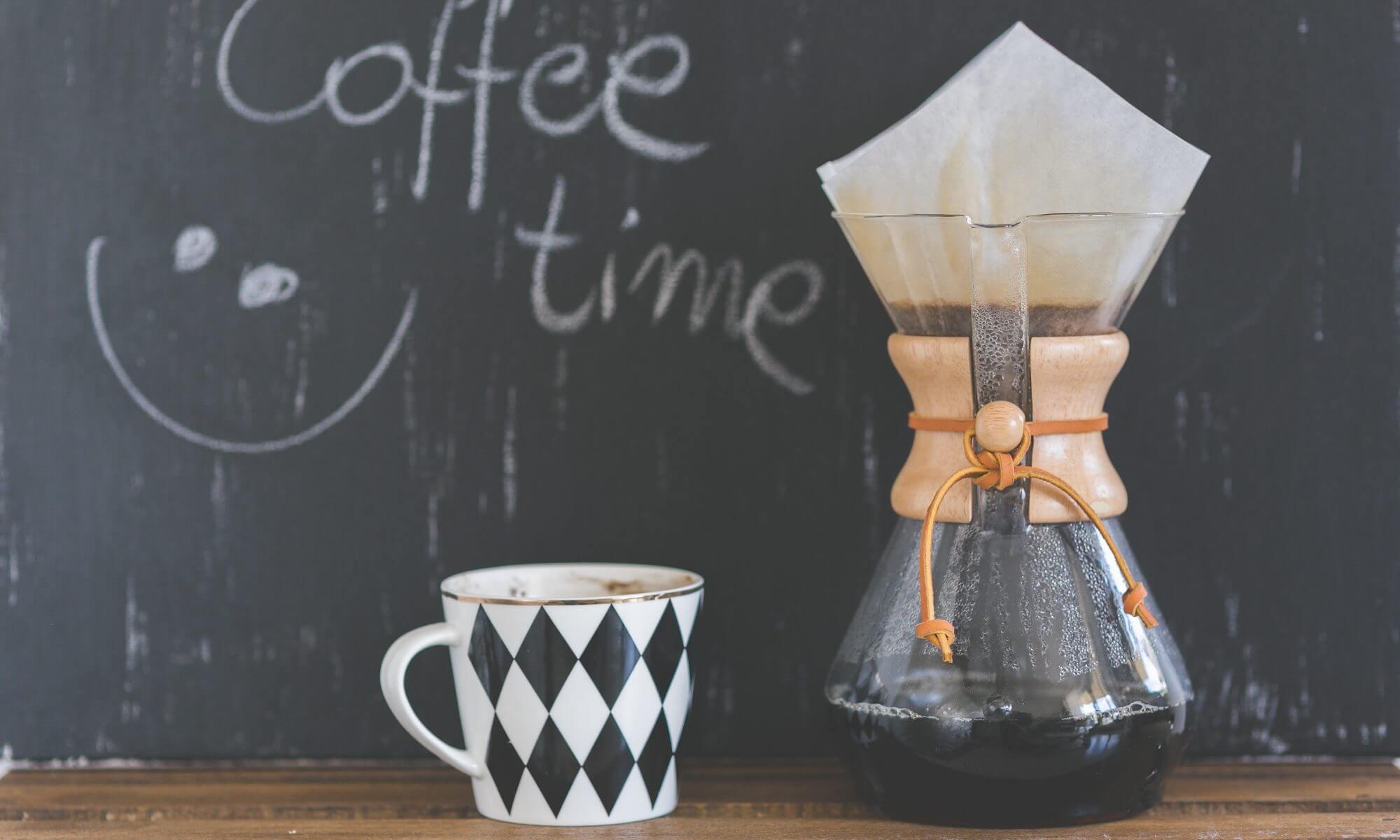 Trinkt ein Kaffee und habt Spaß