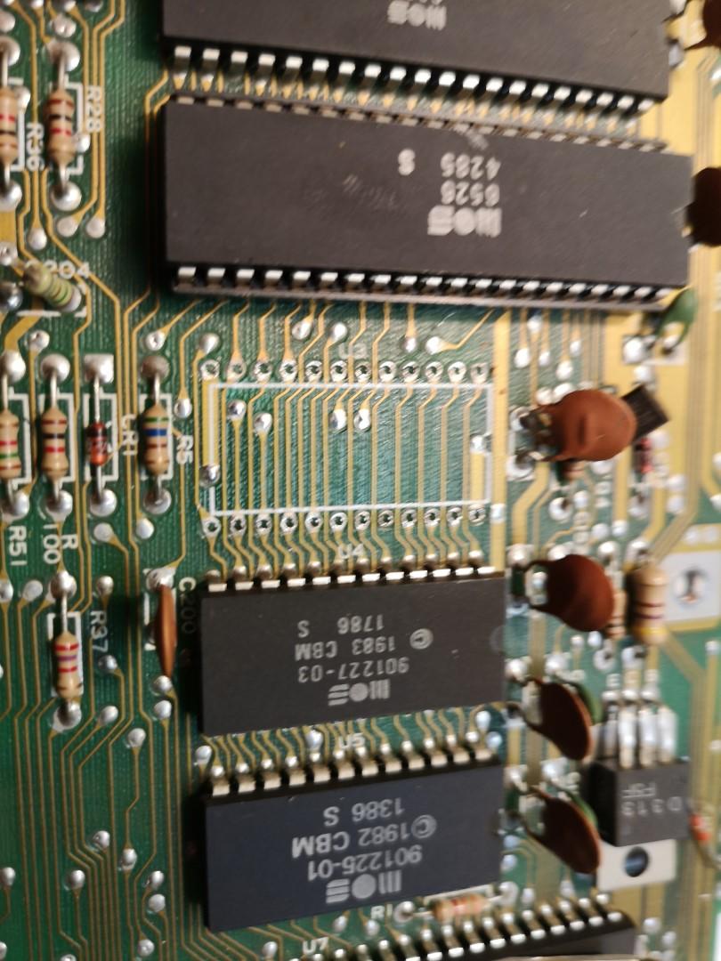 Commodore C64 CHIP noch nicht gesockelt
