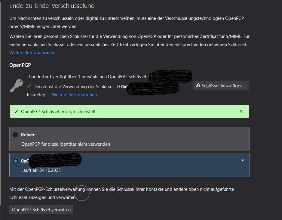 Tutorial: Verschlüsselte Mails mit Thunderbird 78.4.0 dank OpenPGP mit nur 7 Klicks einrichten