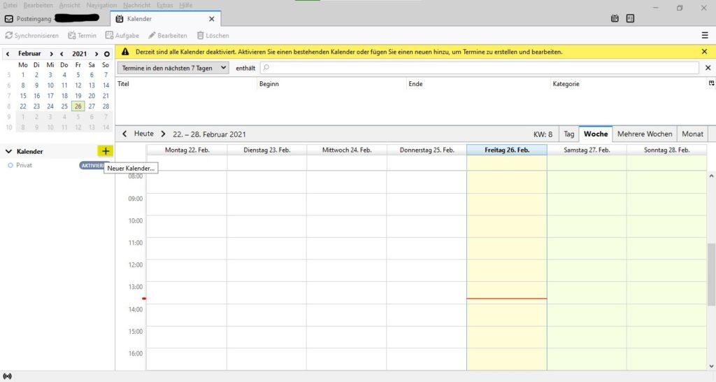 In Thunderbird neuen Kalender einrichten und mit Google-Kalender verknüpfen