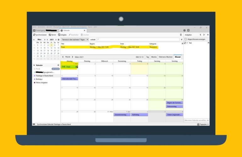 Thunderbird Kalender mit Google-Kalender synchronisieren